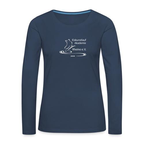 EARheine Logo weiss - Frauen Premium Langarmshirt