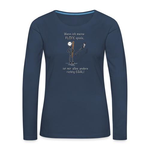 Recorder Love f. dark colours - Women's Premium Longsleeve Shirt