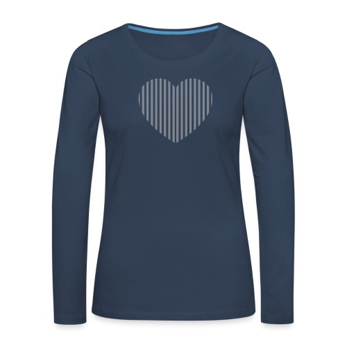 heart_striped.png - Women's Premium Longsleeve Shirt