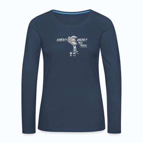 lucky heart dove bird of peace no 15 by - Frauen Premium Langarmshirt