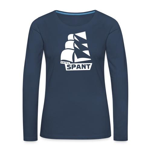 SPANT logo zwart - Vrouwen Premium shirt met lange mouwen