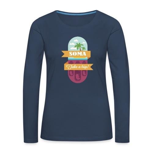 Soma - Il mondo nuovo - Aldous Huxley - Maglietta Premium a manica lunga da donna