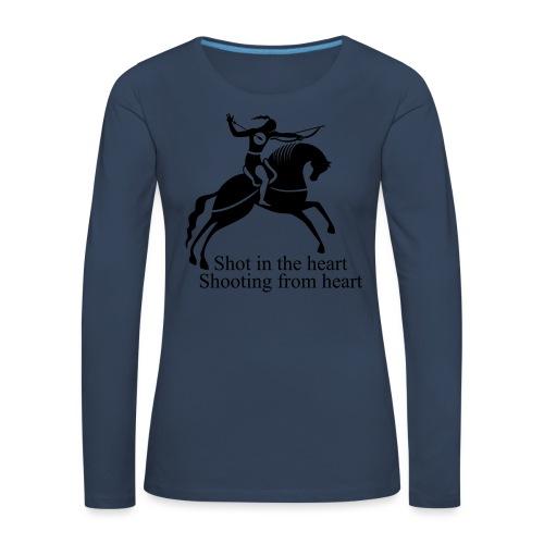 Shot in the Heart - Women's Premium Longsleeve Shirt