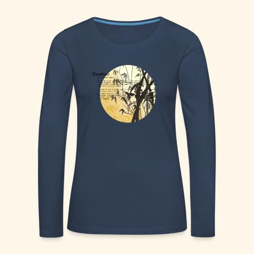 Bamboo - Långärmad premium-T-shirt dam