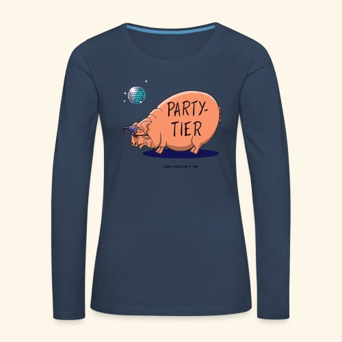 Partytier Schwein Fete Feier Party Sau - Frauen Premium Langarmshirt
