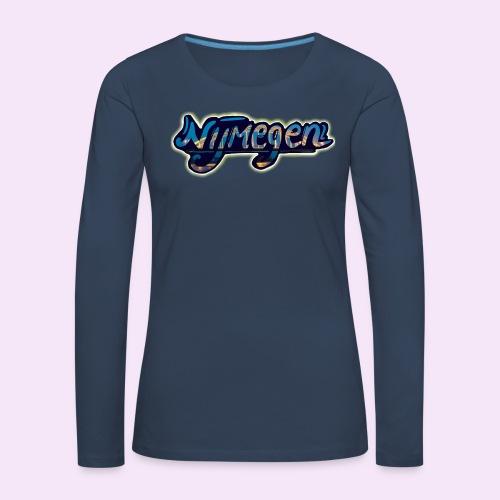 Nijmegen brug - Vrouwen Premium shirt met lange mouwen