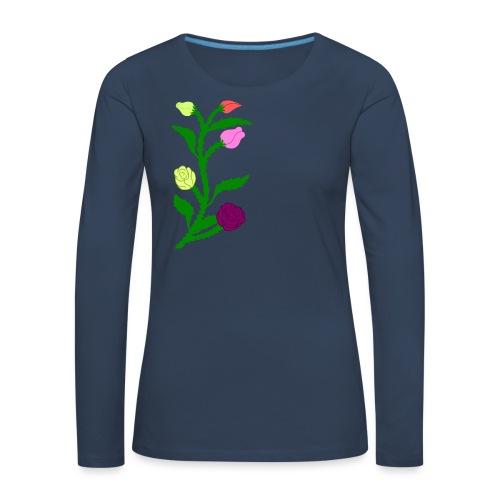 fleurs - T-shirt manches longues Premium Femme