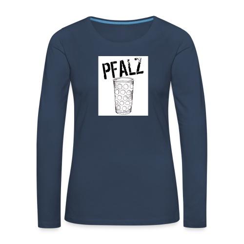 Pfalzshirt mit Dubbeglas, weiß - Frauen Premium Langarmshirt