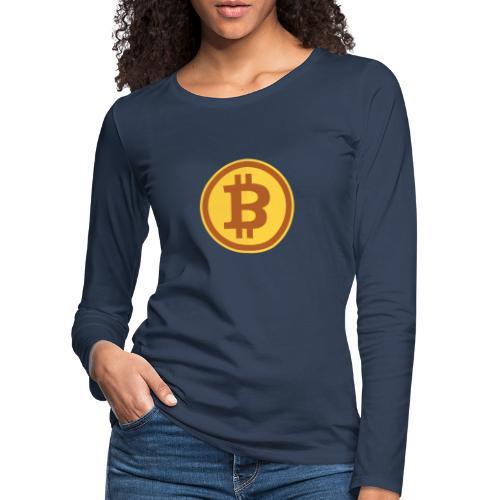 Bitcoin - Frauen Premium Langarmshirt
