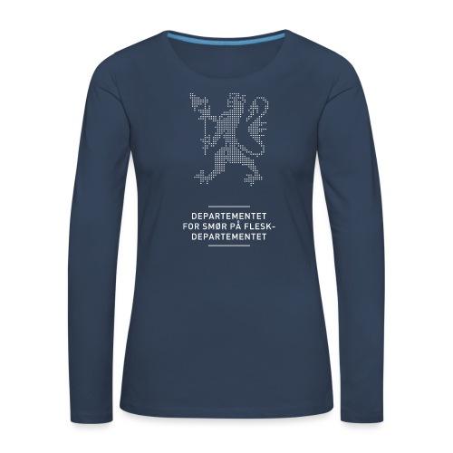 Departementsdepartementet (fra Det norske plagg) - Premium langermet T-skjorte for kvinner