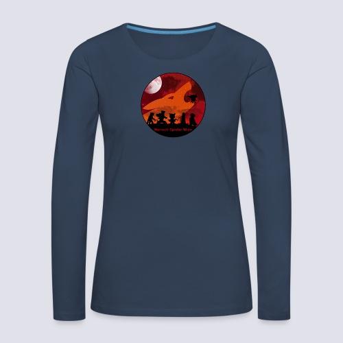 Silhouetten Geschöpfe der Nacht - Frauen Premium Langarmshirt