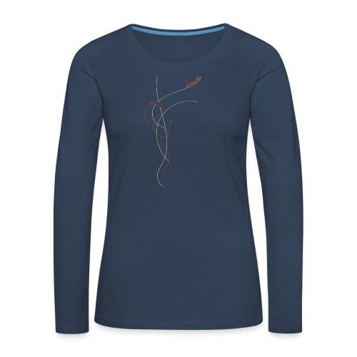 Libert'All In The Sky Orange - T-shirt manches longues Premium Femme