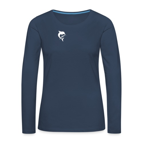 AquaSoftLogo-NurDelphin-B - Frauen Premium Langarmshirt