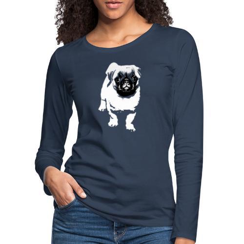 Mops Hund Hunde Möpse Geschenk - Frauen Premium Langarmshirt