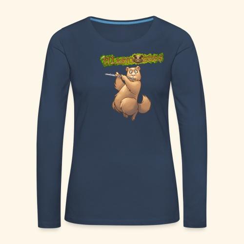 Tshirt Flute devant 2 - T-shirt manches longues Premium Femme