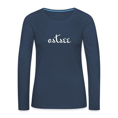 Ostseewellen - Frauen Premium Langarmshirt