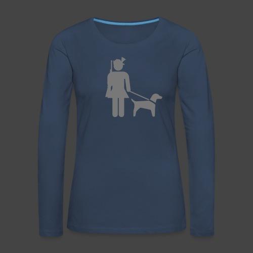 """Hundeführerin""-Jägerinnen Shirt - Frauen Premium Langarmshirt"