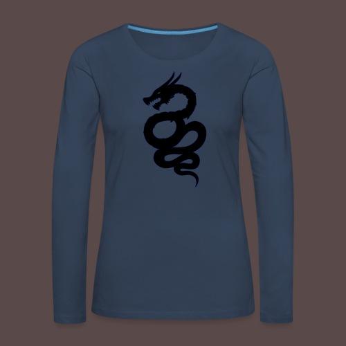 Biscione Drago - Maglietta Premium a manica lunga da donna