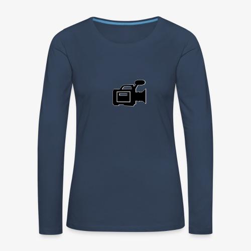 camera - Dame premium T-shirt med lange ærmer