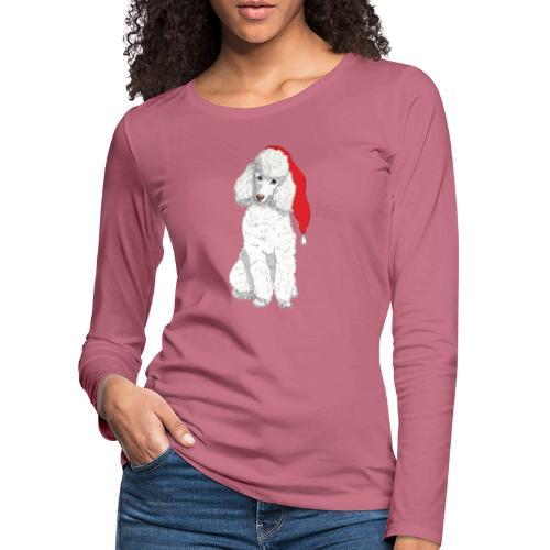Poodle toy W - christmas - Dame premium T-shirt med lange ærmer