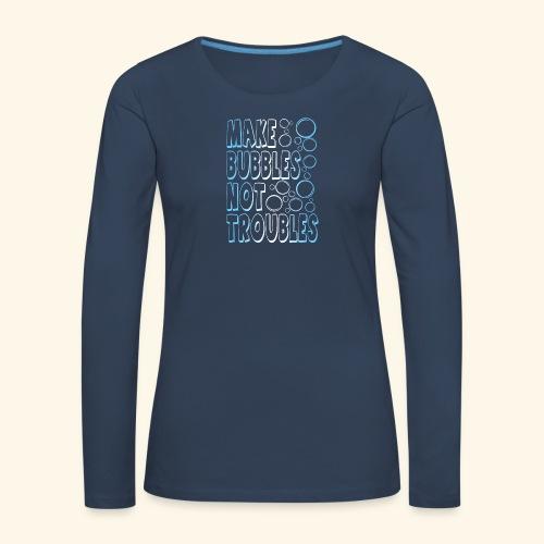 Bubbles001 - Vrouwen Premium shirt met lange mouwen