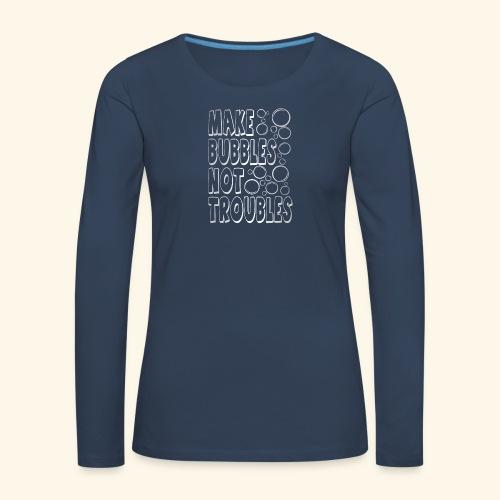 Bubbles003 - Vrouwen Premium shirt met lange mouwen