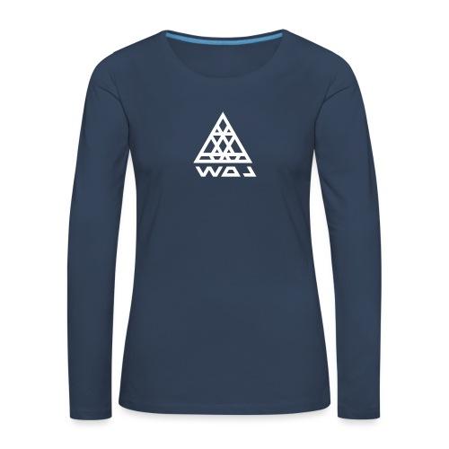 Triangel Konst - Långärmad premium-T-shirt dam
