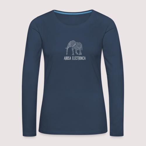 Elefant Weiss - Frauen Premium Langarmshirt