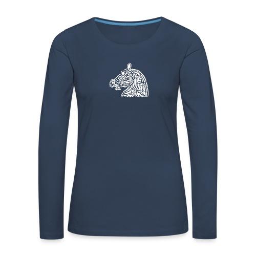 horse - cheval blanc - T-shirt manches longues Premium Femme