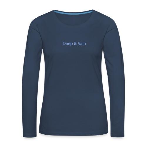 Deep&Vain Text Logo - Vrouwen Premium shirt met lange mouwen