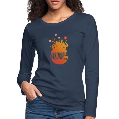 One World Project e. V. - Logo - Frauen Premium Langarmshirt