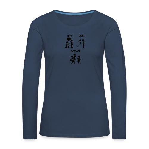 4 - Maglietta Premium a manica lunga da donna