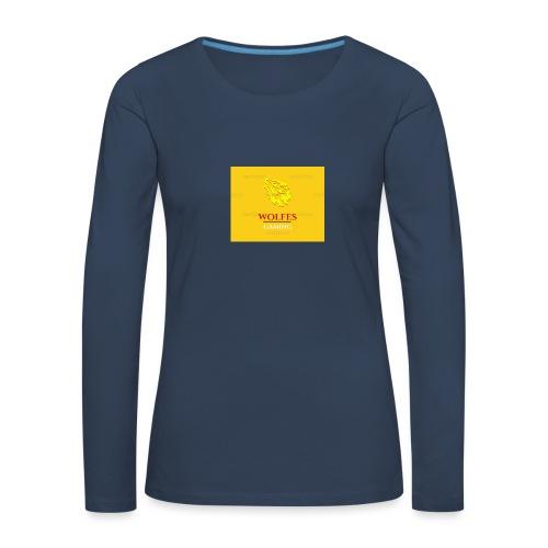 wolfes - Dame premium T-shirt med lange ærmer