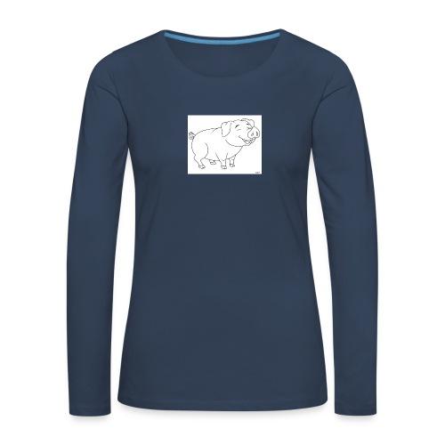 Cochon de lait anime. - T-shirt manches longues Premium Femme
