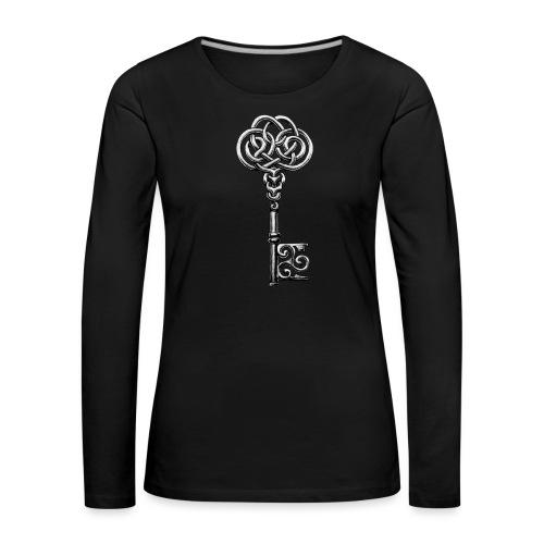 CHAVE-celtic-key-png - Camiseta de manga larga premium mujer