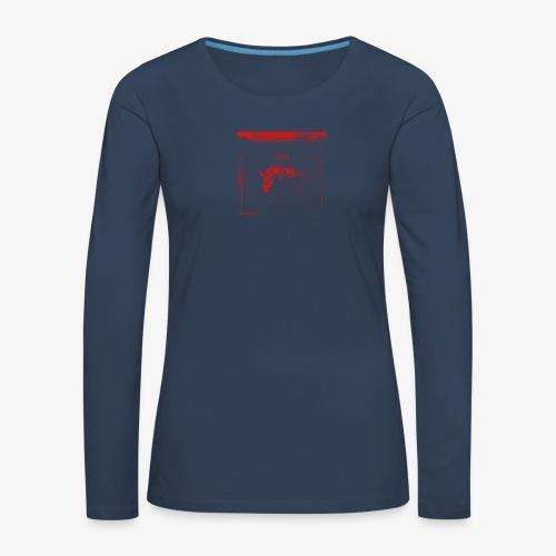 Hyena Red - Långärmad premium-T-shirt dam