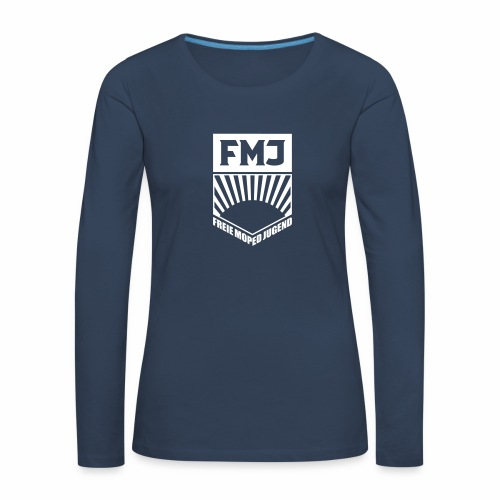 Freie Moped Jugend FDJ Parodie (1c) - Women's Premium Longsleeve Shirt