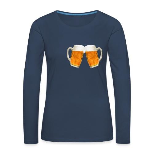 Zwei Bier - Frauen Premium Langarmshirt