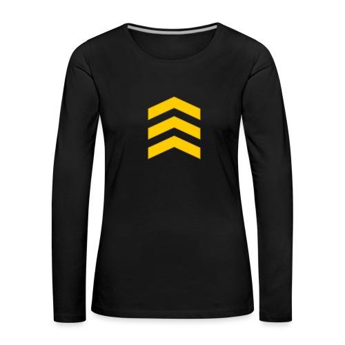Kersantti - Naisten premium pitkähihainen t-paita