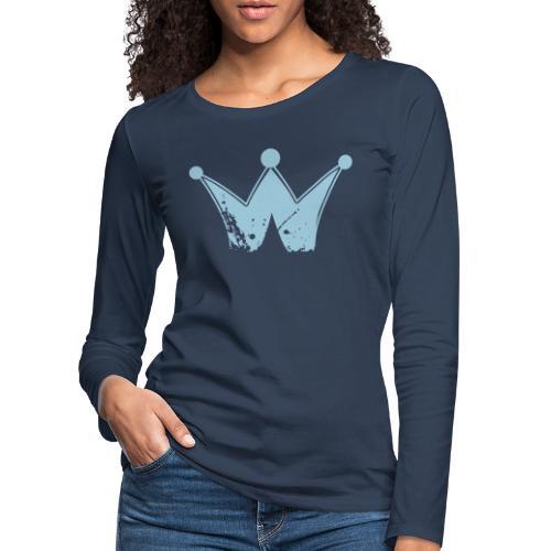 Vintage Krone - Frauen Premium Langarmshirt