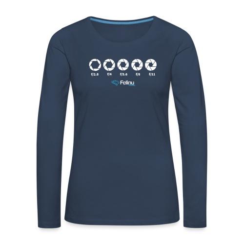 Apertura de Diafragma - Camiseta de manga larga premium mujer