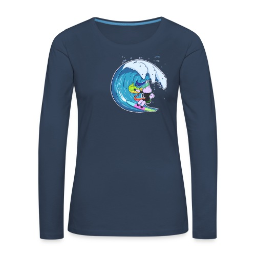 Surfing Unicorn - Women's Premium Longsleeve Shirt