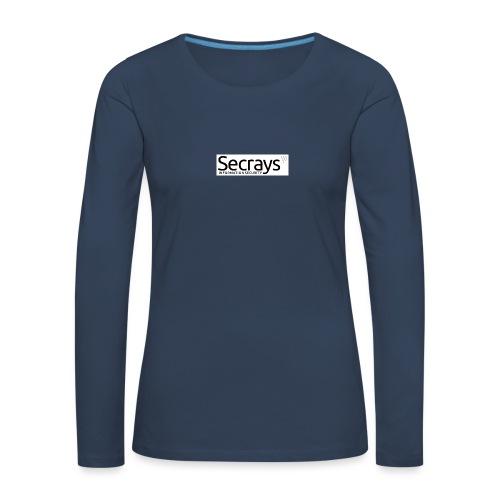 logo musta teksti - Naisten premium pitkähihainen t-paita