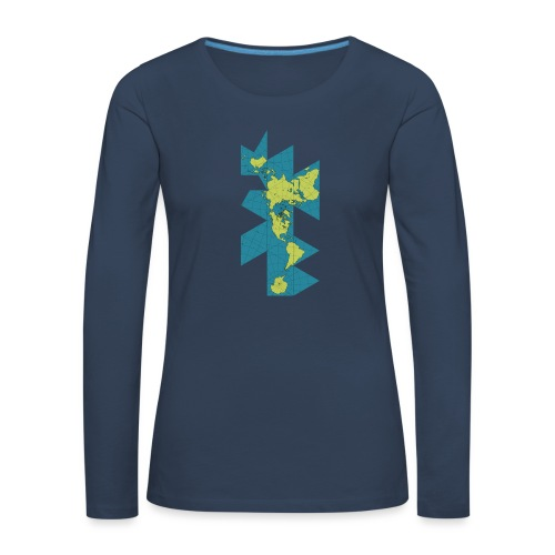 Icosahedron Net Globe - Women's Premium Longsleeve Shirt