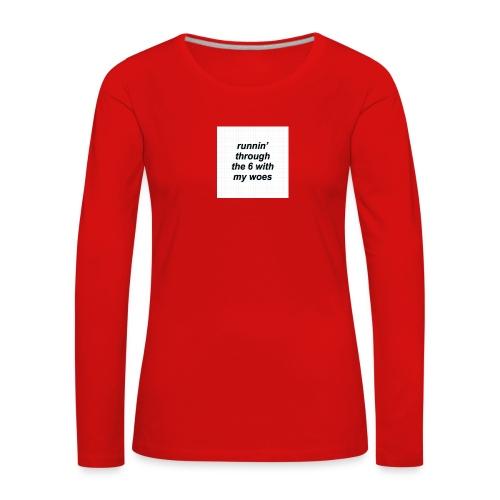 cap woes - Vrouwen Premium shirt met lange mouwen