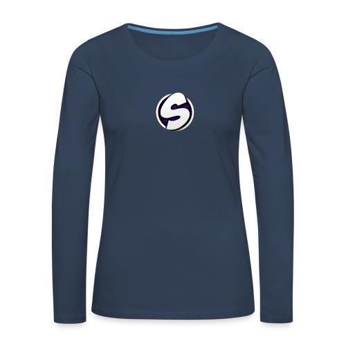 SilkyFX logo - Vrouwen Premium shirt met lange mouwen