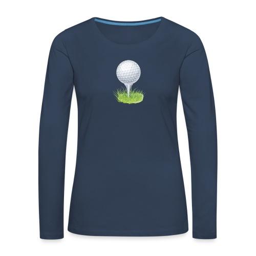 Golf Ball PNG Clipart - Camiseta de manga larga premium mujer