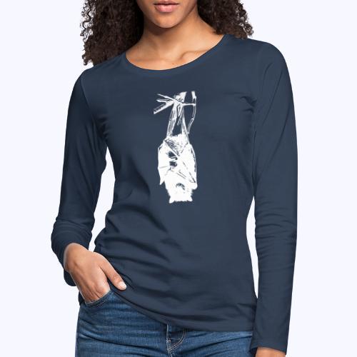 HangingBat weiss - Frauen Premium Langarmshirt