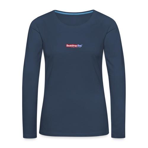 beatdropbox logo final and hires - Vrouwen Premium shirt met lange mouwen