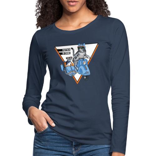 Partner in Crime - Cat & Dog - Frauen Premium Langarmshirt